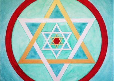 Triple sceau de Salomon pour François Mazelin, thérapeute et transmetteur du yoga du coeur