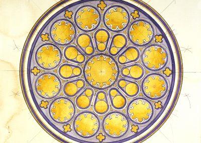 """""""La Dame qui veille"""" - Rosace occidentale Cathédrale de Chartres (vendu)"""